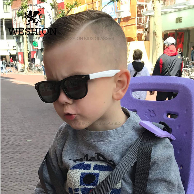 Sunglasses Kids Polarized Children Classic Brand Designer Eyeglasses Rivet TAC TR90 Flexible Safety Frame Shades For Boy Girl