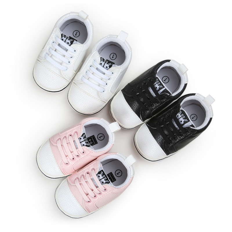 Spring Autumn Fashion baby Moccasins PU Leather Toddler First Walker Soft Soled Baby Girls Shoes Newborn Boys Sneakers For 0-18M