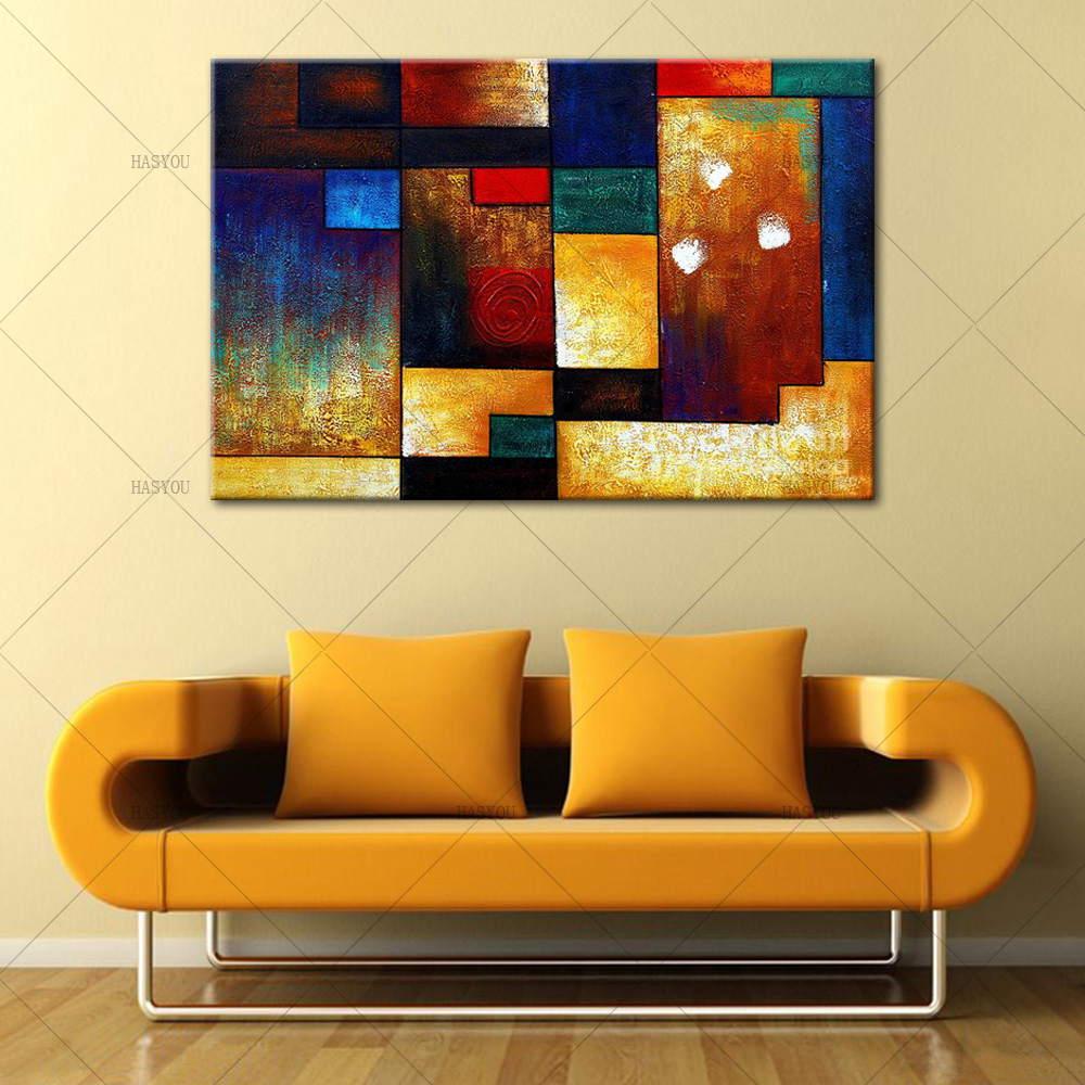 Decorative Pictures 1 Pieces Abstract Oil Painting On Canvas ...