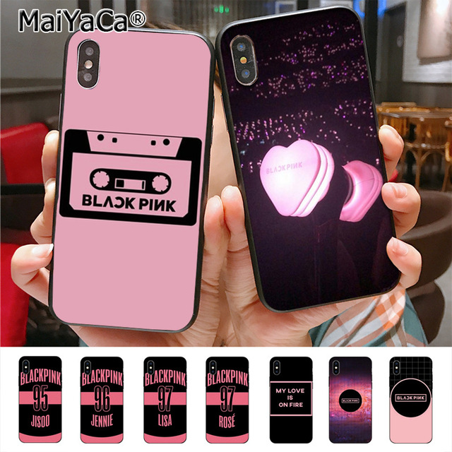 brand new 5298a c420e US $0.7 46% OFF|MaiYaCa Kpop Blackpink Diy Cell Phone Protective Case for  iPhone X 7plus 6 6s 7 8 8Plus 5 5S 5C case-in Half-wrapped Case from ...