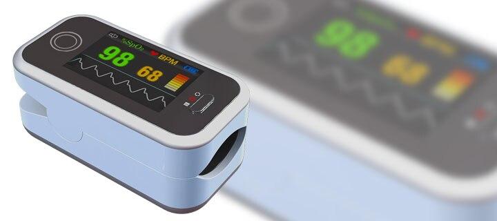 CONTEC CMS50H couleur OLED affichage noir doigt oxymètre de pouls avec livraison gratuite