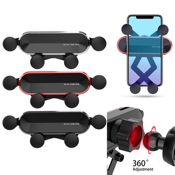 Gravity Car phone Holder Car Air Vent Mount Car Holder For iPhone 8 X XS Max Samsung Xiaomi Mobile Phone Holder Stand Universal image