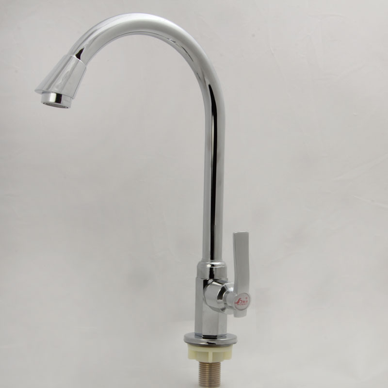 Free shipping Hot sale single cold kitchen sink mixer tap with high quality polished chrome kitchen