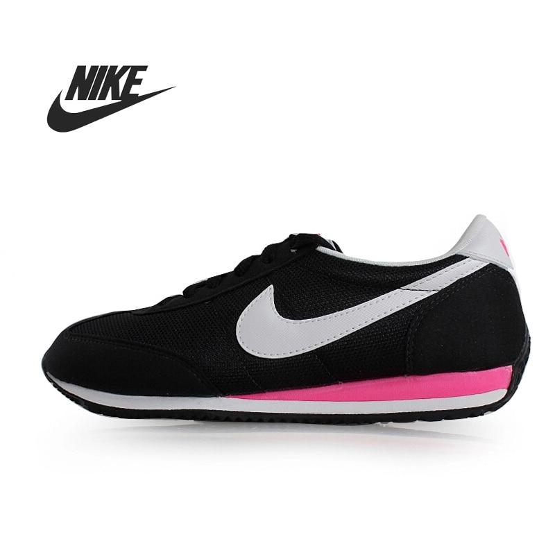 release date 6570c 0136b Nike Oceania 511880 400 Womens Laced Suede u0026 Nylon Trainers Blue