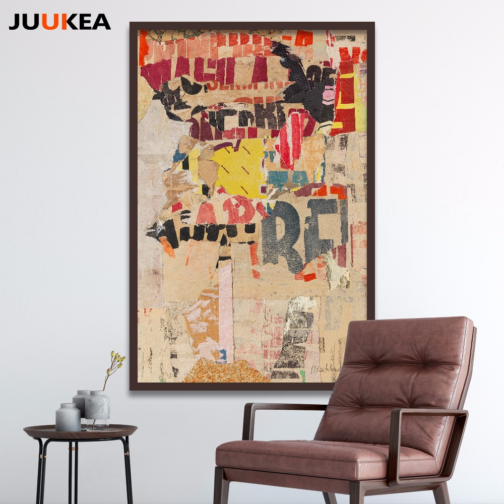 Room wall graffiti - Pop Vintage Hipster Graffiti Letter Canvas Art Print Painting Poster Full Size Wall Picture For Living Room Home Decor