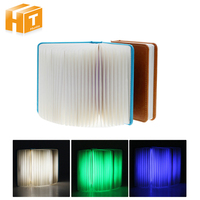 Creative Night Light Book Shape Foldable Pages Led USB Rechargeable Night Lamp Home Decor Indoor Lighting