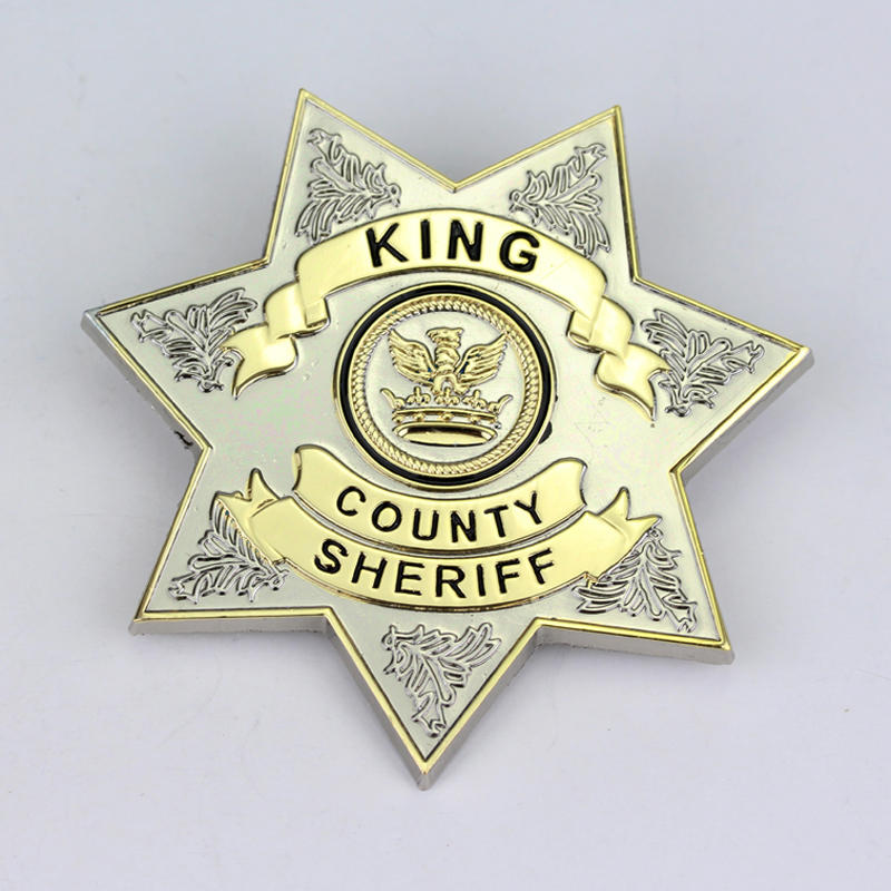 Wholesale The Walking Dead Uniform Star King County Sheriff Letter Badge Brooch Gaes Cosplay Lapel Pin