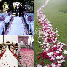 New 2017 Fashion 500 pcs wedding Decor Romantic party Flowers Polyester Wedding Rose Petals patal