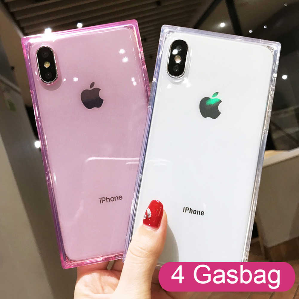 iPhone 11 Pink Clear Transparent Case Cover