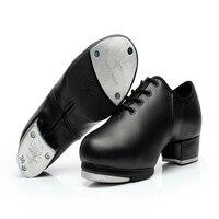 Người đàn ông Giày Sneakers Thể Thao Phụ Nữ da Chính Hãng Tap Giày Khiêu Vũ tấm Nhôm Loud Mặc-chống Ren-up Giày Black Girl Hot