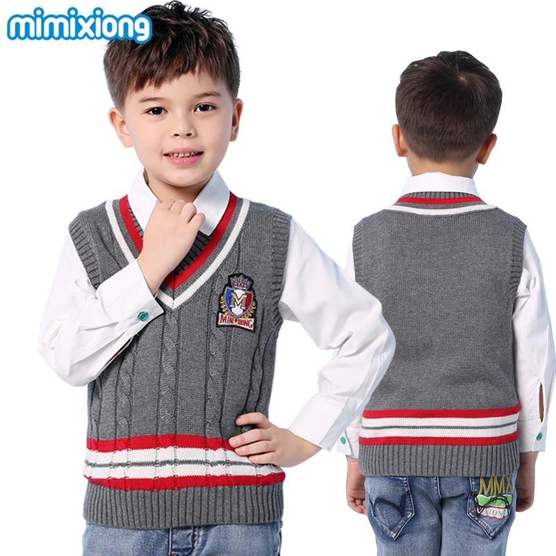 Aliexpress Buy Winter Striped V Neck Sleeveless Kids Sweater