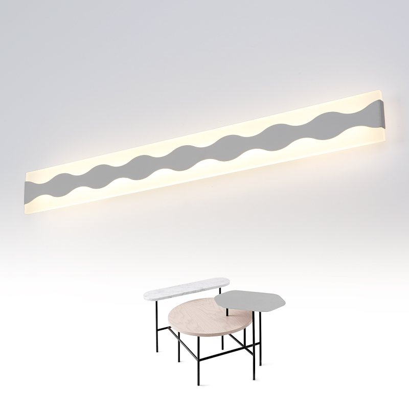 Modern led mirror light  40CM-120CM waterproof wall lamp fixture AC110-220V Acrylic wall mounted bathroom lighting 6w 9w led wall lamp modern bathroom mirror light acrylic lampshade chrome metal sconce home decoration fixture 110 220v