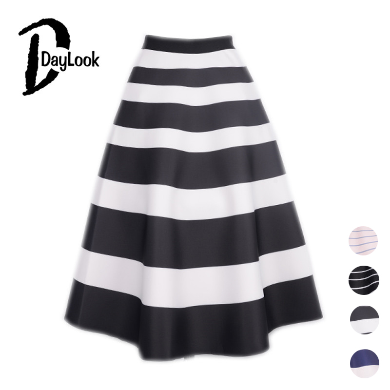 Aliexpress.com : Buy DayLook Striped Print Long Skirt Space Cotton ...