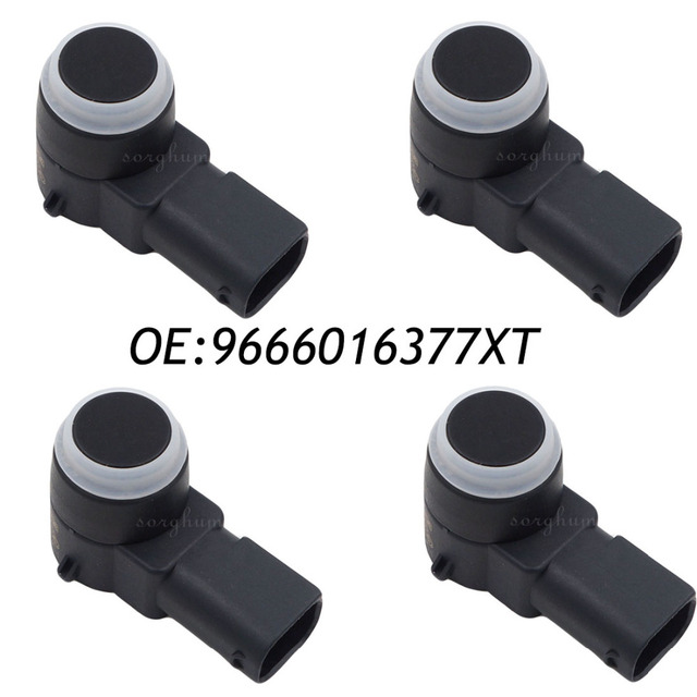4PCS PDC Parking Aid Sensor For Peugeot 308 407 RCZ Citroen C4 C5 C6 DS3 9666016377XT, 9663821577,9666016377