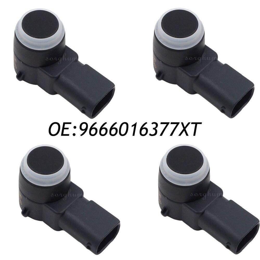 4PCS PDC Parking Aid Sensor For Peugeot 308 407 RCZ Citroen C4 C5 C6 DS3 9666016377XT, 9663821577,9666016377
