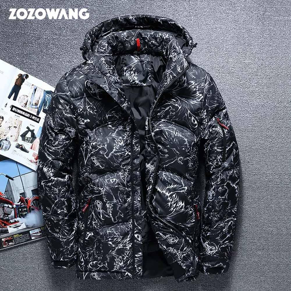 ZOZOWANG 2019 Winter Jacket High Quality Winter Thick  White Duck Thick Down Jacket Men Camouflage Hooded Doudoune Homme Feather