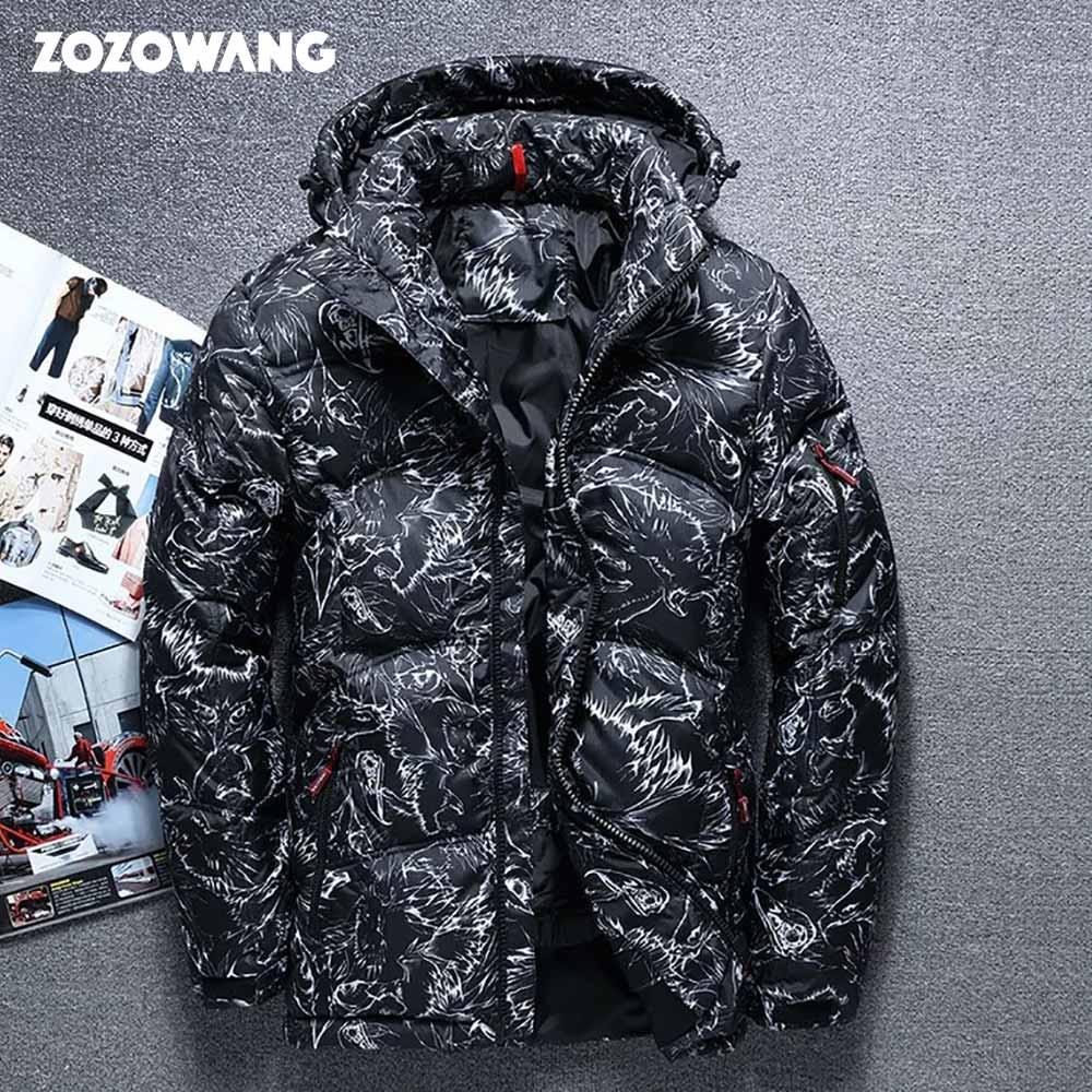 ZOZOWANG 2019 winterjas Hoge Kwaliteit winter dikke Witte Eend Dikke Donsjack mannen camouflage hooded Moncler Homme Veer-in Donzen jassen van Mannenkleding op  Groep 1