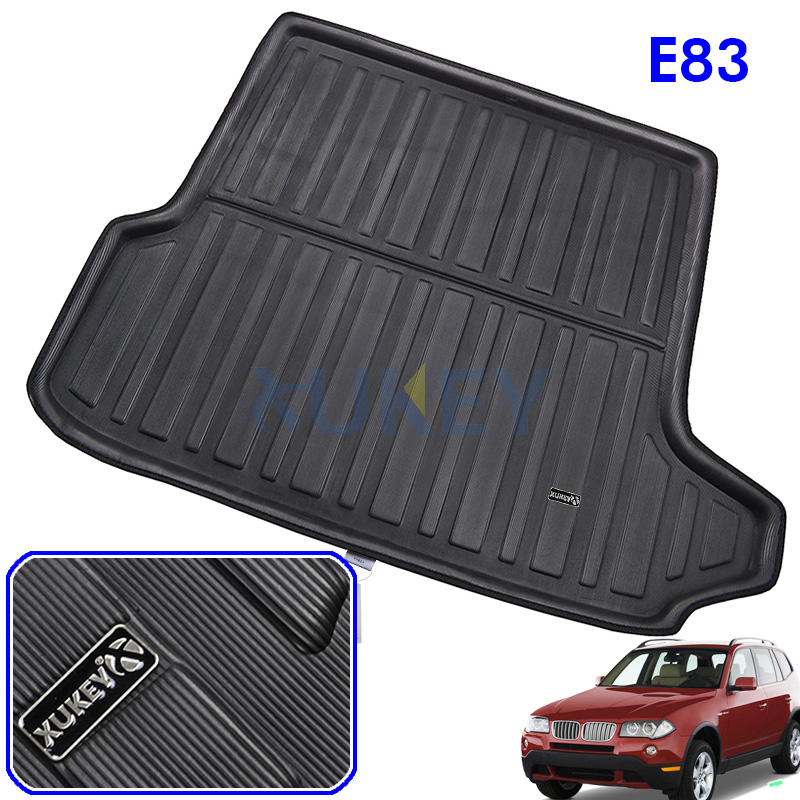 Fit For BMW X3 E83 2004-2010 Rear Trunk Liner Boot Cargo Mat Tray Floor Carpet Mud Kick Protector 2005 2006 2007 2008 2009