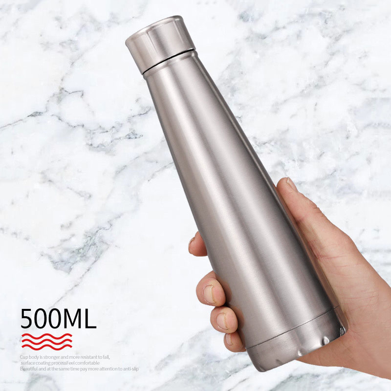 500 ml A Doppia Parete Conico Bottiglia Thermos In Acciaio Inox Coibentato Tazza di Cola Birra Latte Caffè Boccetta di Vuoto di Viaggio Freddo Bottiglia