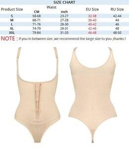 Image 5 - NINGMI Slimming Body Shaper Women Bodysuit Waist Trainer Tummy Firm Control Shapewear Slim Rubber Latex G string Underbust Dress