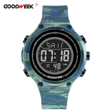 GOODWEEK Sport Watch Men Waterproof Silicone Military Digital Watch Led Analog Army Electronics Wrist Watches Reloj Hombre все цены