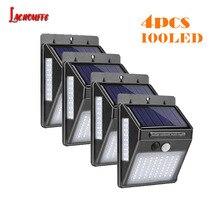 цена на 30/40/100 LED Solar Light Garden Solar Lamp PIR Motion Sensor Solar Powered Motion Waterproof for Outdoor Wall Street Decoration