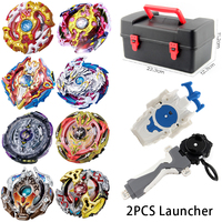 8pcs Set B97 B100 Metal Beyblade Burst Toys Arena Sale Bey Blade Gyroscope Containing Emitter Hobbies