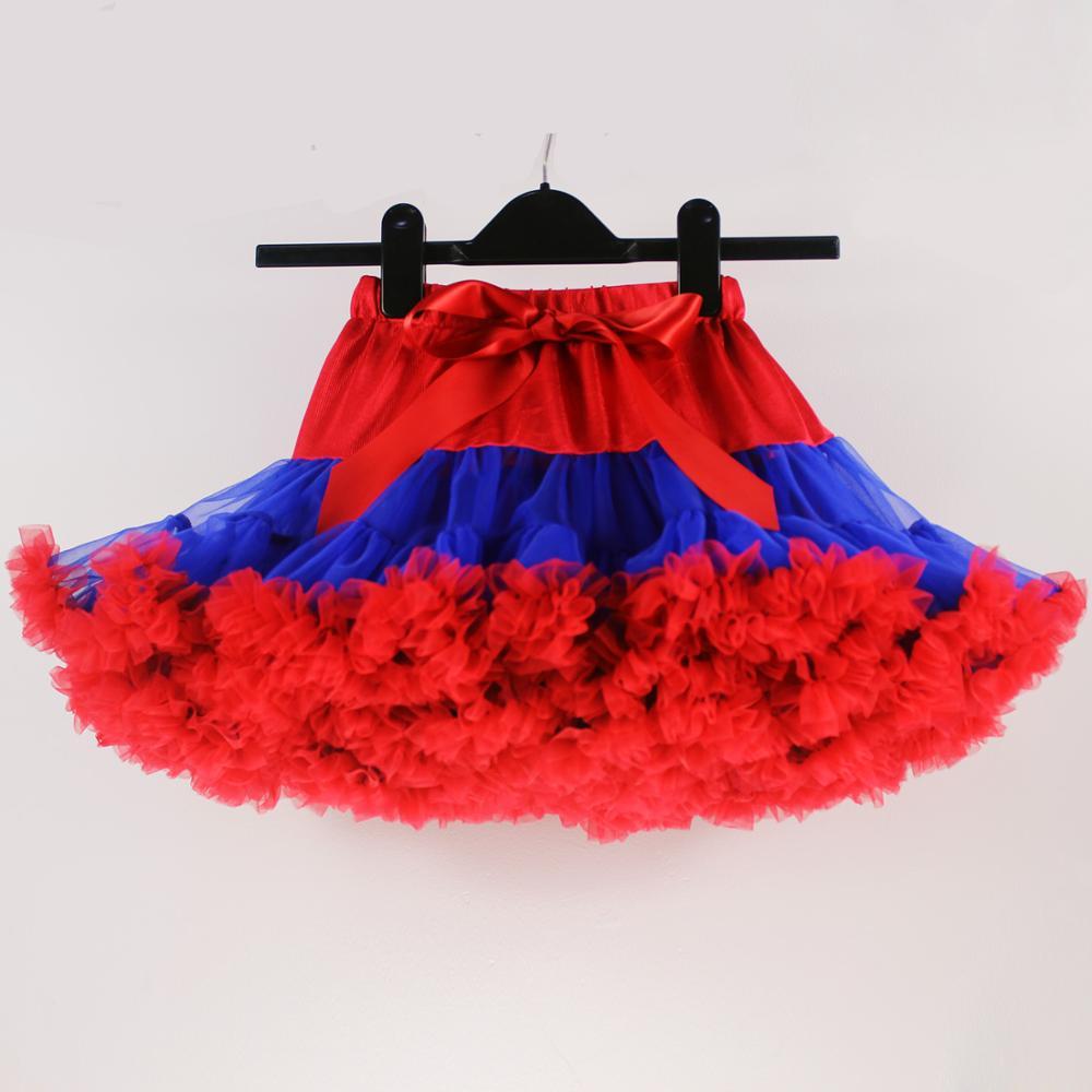 Юбка-пачка для девочек; детская юбка-пачка; Радужная юбка-пачка; одежда для мамы и дочки; ярко-синяя и красная юбка-пачка
