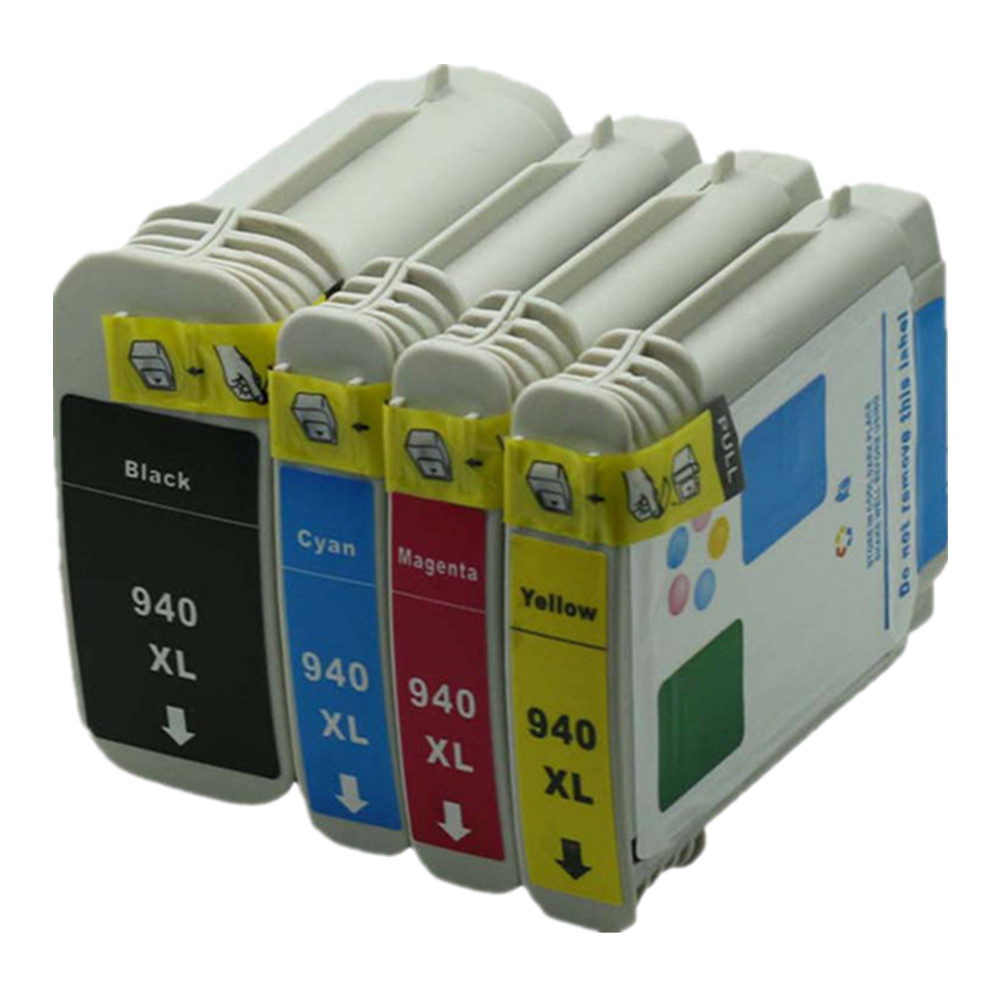 1 Set 4 Pack  Inkjet Cartridge Ink Cartridges Compatible For HP HP940 HP940XL 940XL 940 XL Officejet Pro 8000 8500 8500A Printer