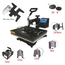 Новый дизайн 9 в 1 комбинированный термопресс машина теплопередача/сублимационная машина сублимационный принтер для кружки/крышки/футболки