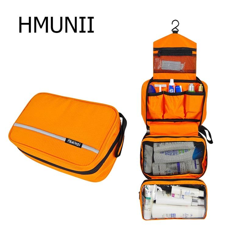 HMUNII Men Hanging Toiletry Bag Foldable Waterproof Bag Toiletries Cosmetic Travel Kit For Women Hangable CaseTravel Accessories