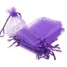 cm 100pcs lot Organza Bags Wedding