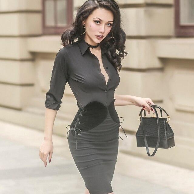 54898c9738a 40- le palais vintage 50s black elegant