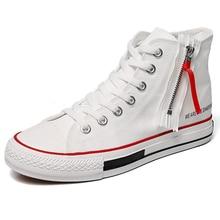 White High Top Sneakers Men Designer Fashion Upper Canvas Shoes Autumn Summer Skate Outdoor