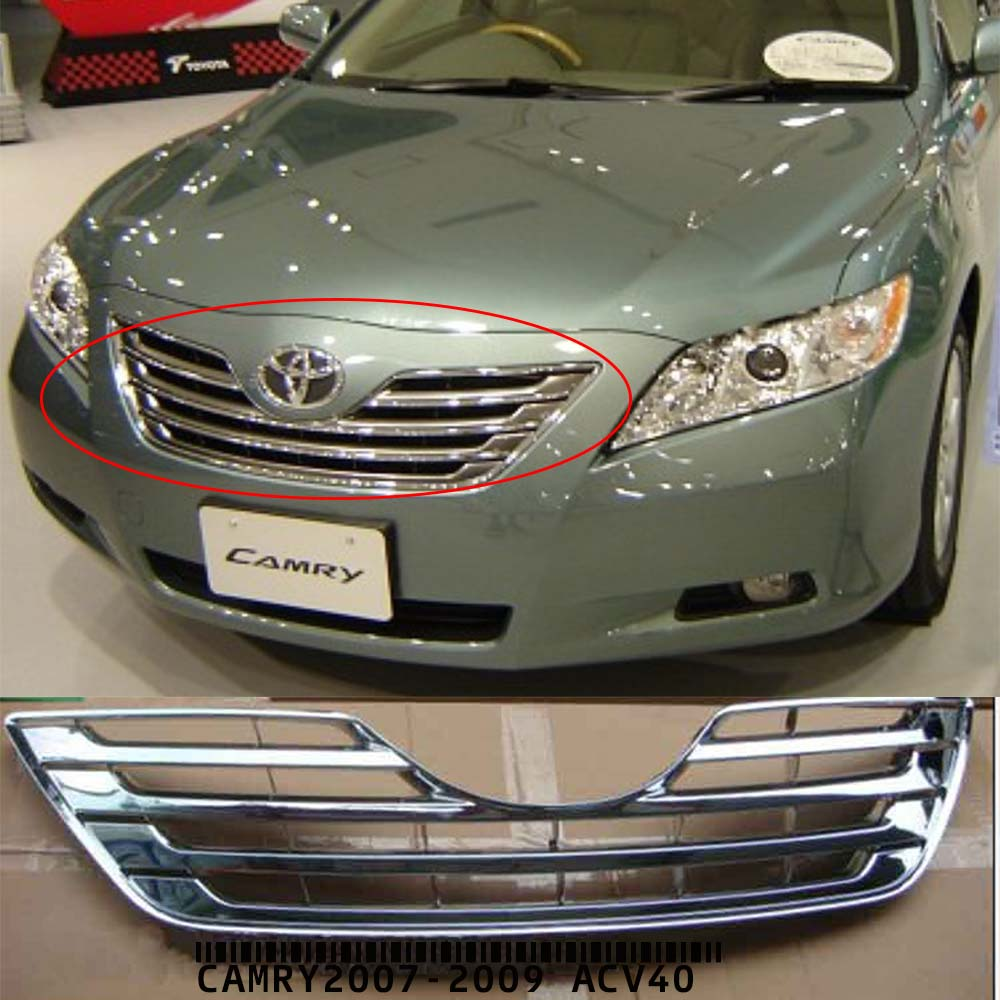 Chrome racing grille para toyota camry2007 2008 2009 acv40 china