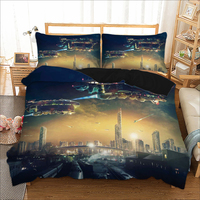 Bedding Set 3D Print Design Duvet Cover Sets King Queen Twin Size Dropshipping Gift for children Space ship 3pcs