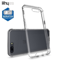 Whyes For OnePlus 5 Case Transparent Anti-Shock Case Soft TPU And Acrylic Business Anti-scratch Phone Cover For One Plus 5