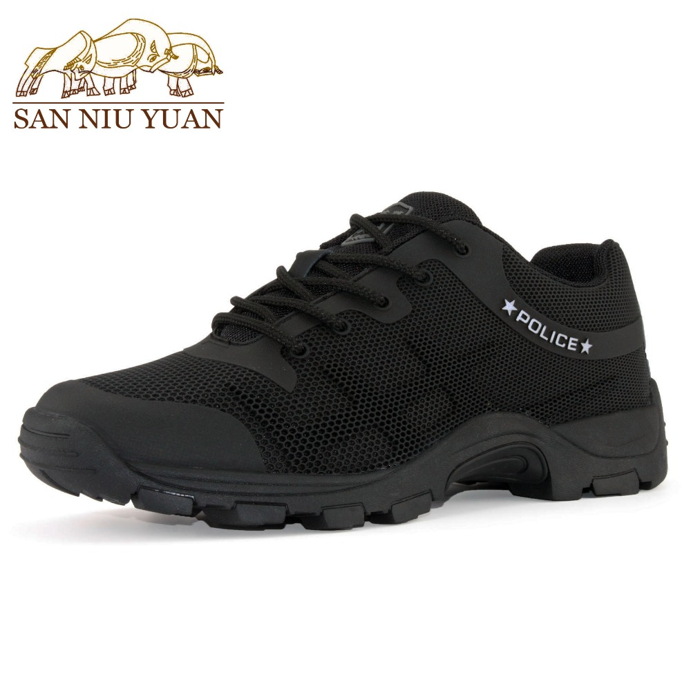 2018 New Arrive Men's Spring Summer Autumn Rubber Mesh Black Hiking Shoes Breathable Outdoors Training Walking Waterproof Shoes