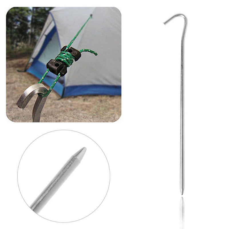 Tent pegs Aluminum Alloy Stake Nails Ground Pin Camping Hiking Outdoor Accessory 3