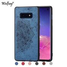 For Samsung Galaxy S10 Lite Soft TPU Cloth Texture Hard Phone Case Cover S10e