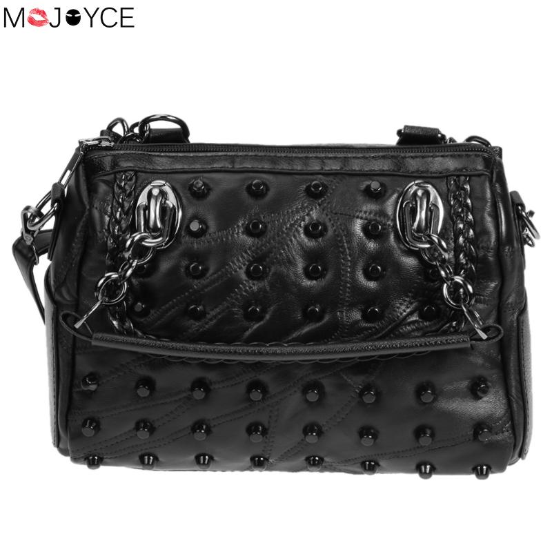 MOJOYCE Women Genuine Leather Bag Sheepskin Messenger Bags Handbags Women Famous Brands Designer Female Handbag Shoulder Bag Sac 4sets herringbone women leather messenger composite bags ladies designer handbag famous brands fashion bag for women bolsos cp03