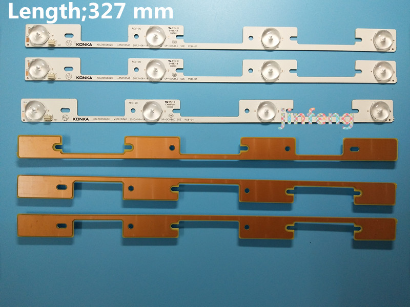 Computer & Office 30 Pieces*4 Leds*6v Led Strips Working For Tv Kdl39ss662u 35018339 327mm To Win A High Admiration