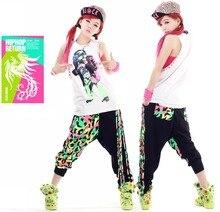 Yeni Moda Marka Harem Hip Hop Dans Pantolon Püskül Sweatpants Çocuklar Kadın Sahne Performansı Giyim Neon Caz Pantolon