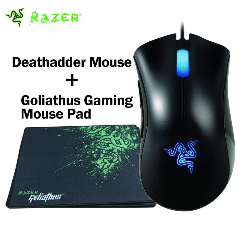 Prix pour 100% D'origine Razer Deathadder Souris 3500 DPI Gaming Mouse + Razer Goliathus Gaming Mouse Pad 320mm x 240mm x 3mm Plus Bas prix