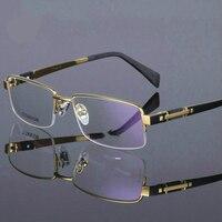 Viodream Original brand plate gold eyewear high quality pure titanium half frame eyeglass myopia glasses oculos de sol TG8001