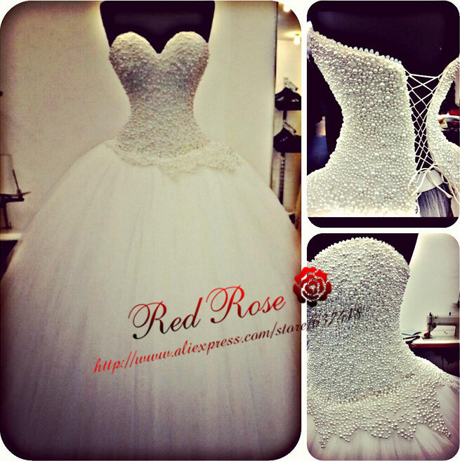 Ball Gown Wedding Dress with Beads Cheap Wedding Dress High Quality Vestidos Para Casamento Lace up Back