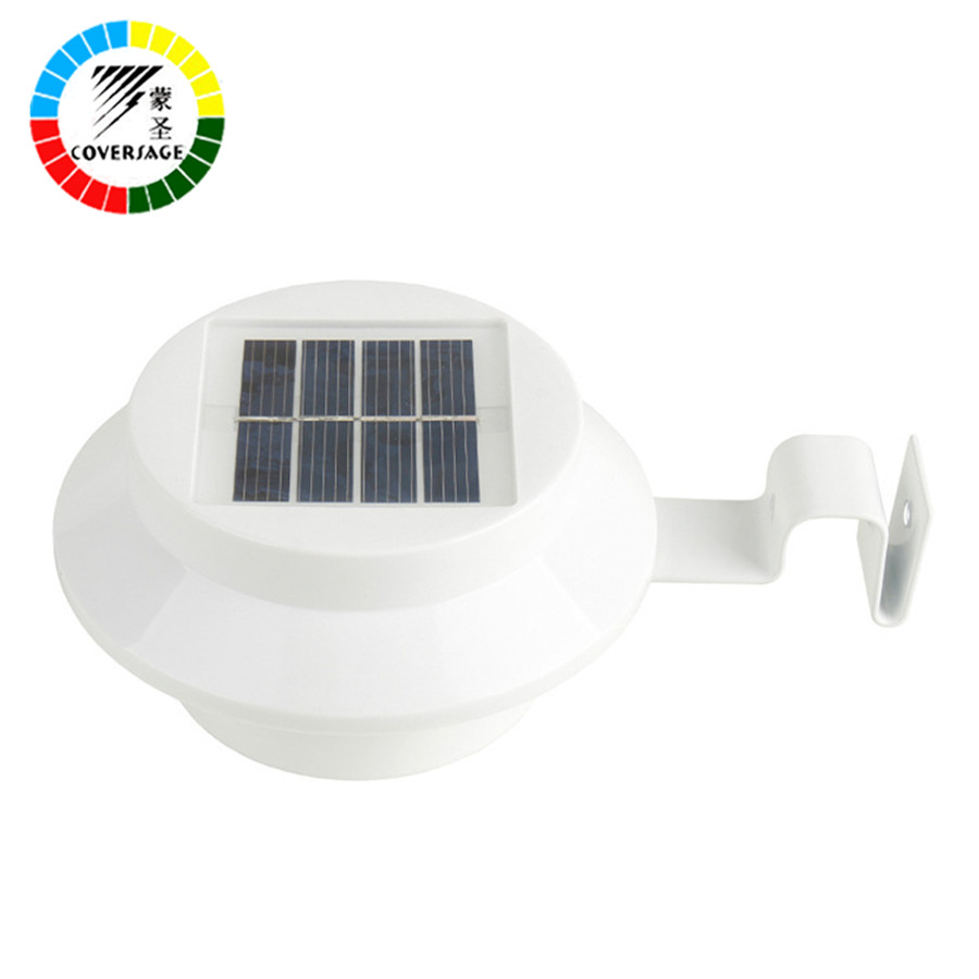 Coversage 3 LED Solar Outdoor Iluminacion Luz Auto Sensor Waterproof Led  Energy Wall Lights Garden Lamp Wireless Luces Bulb