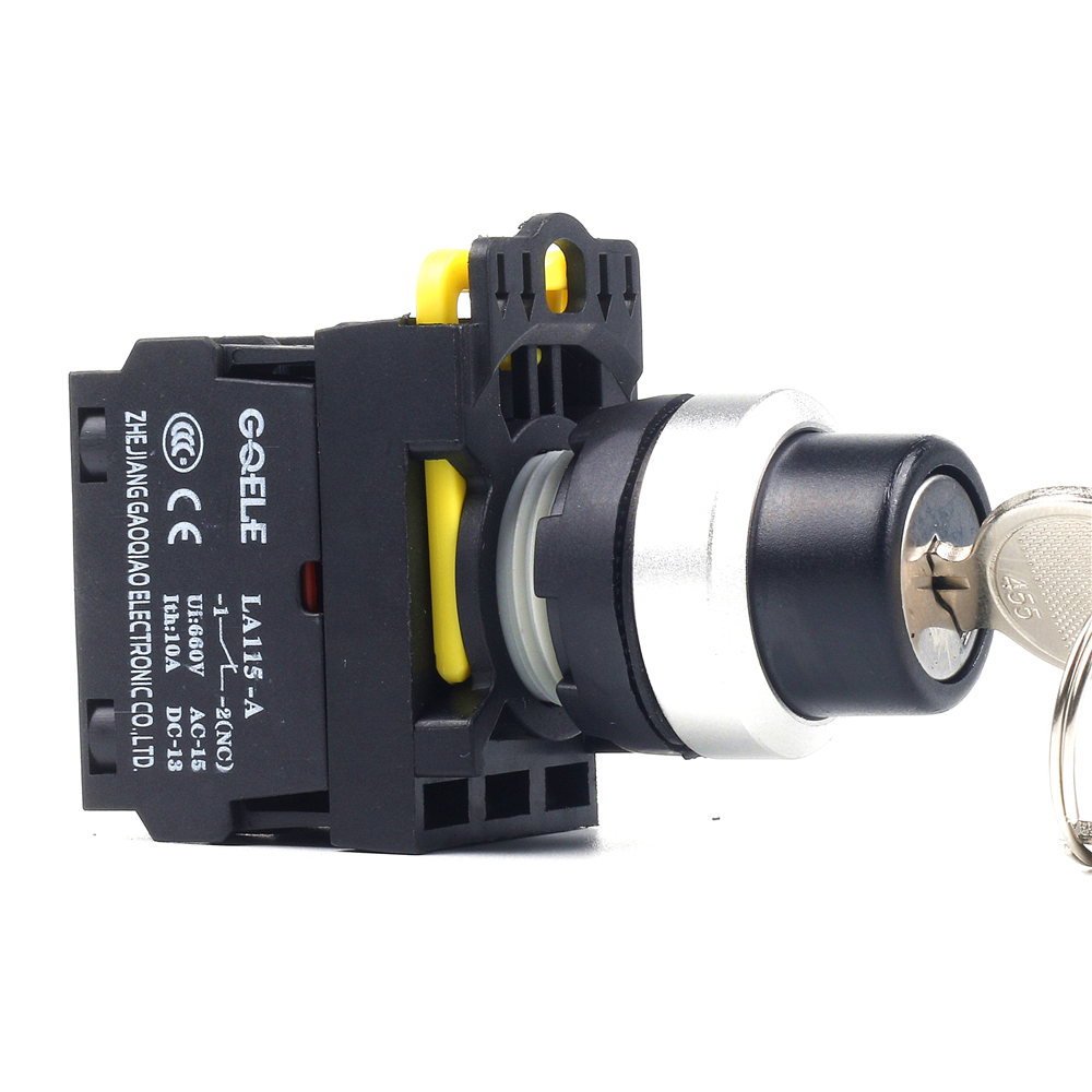 5 PCS Push button switch Selector switch Key-operated 2-Position Latching OR Momentary IP65 LA115-A2-11Y сумка 100