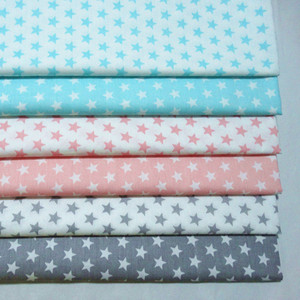 New Stars Printed Baby Cotton Quilting Fabric by half meter for DIY Sewing Bed Sheet Dress making cotton fabric 50*160cm(China)