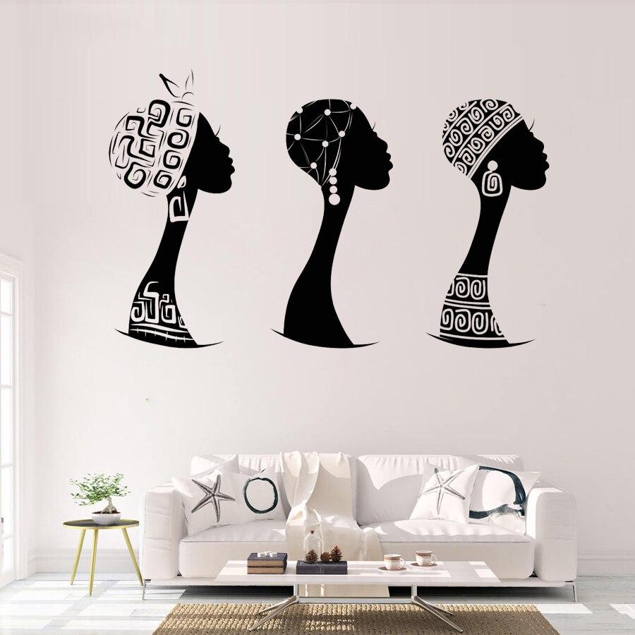 Aliexpress Com Buy African Woman Profile Vinyl Wall